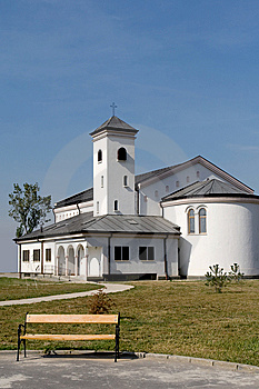 Church And Bench Royalty Free Stock Image - Image: 8450356