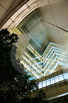 Modern Building At Night Royalty Free Stock Image - Image: 8450866