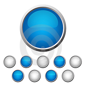 Set Buttons Royalty Free Stock Image - Image: 8451276
