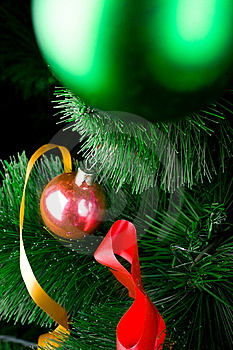 Christmas Balls On Pine Tree Stock Photography - Image: 8451522