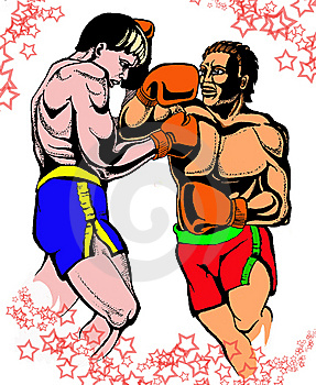 Two Boxers Royalty Free Stock Images - Image: 8451879