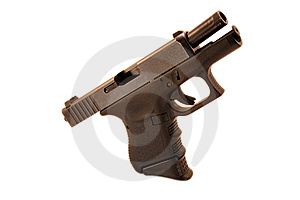 Opened Compact Pistol Royalty Free Stock Image - Image: 8452686