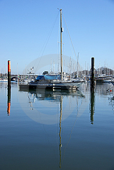Yacht Reflections 3 Stock Photography - Image: 8453152