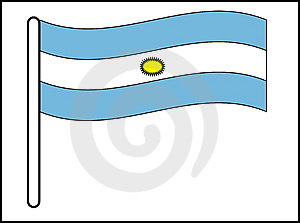 Flag Of Argentina Royalty Free Stock Image - Image: 8453326