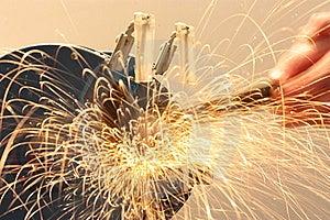 Metal Grinding Royalty Free Stock Image - Image: 8453596