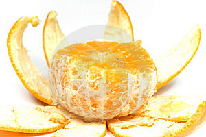 Orange With Peel Royalty Free Stock Images - Image: 8454669