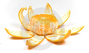 Orange With Peel Royalty Free Stock Photography - Image: 8454857