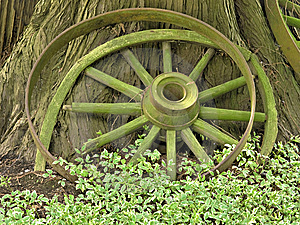 Wooden Wheels Stock Image - Image: 8455201
