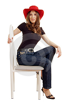 Girl On A Chair Stock Photos - Image: 8455633