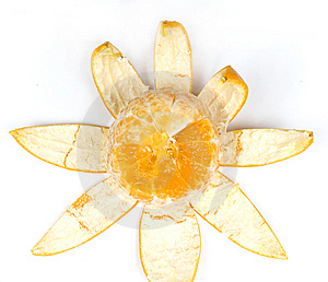 Slice Orange With Peel Royalty Free Stock Photos - Image: 8456238