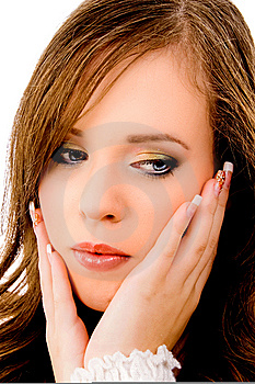 Close View Of Young Glamorous Female Stock Image - Image: 8456461