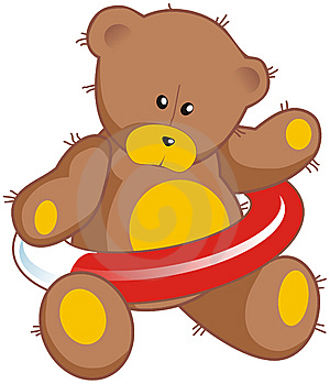 Teddy Bear With Life Buoy Royalty Free Stock Image - Image: 8456516