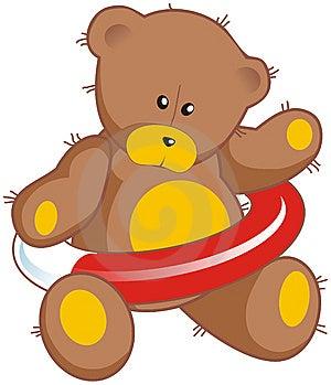 Teddy Bear With Life Buoy Royalty Free Stock Image - Image: 8456516