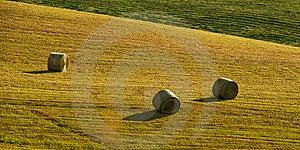 Three Bals Of Hay Stock Photography - Image: 8456522
