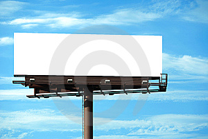 Blank Billboard Royalty Free Stock Photos - Image: 8456878