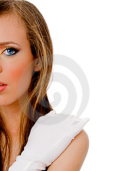 Half Length View Of Female Face Stock Images - Image: 8456964