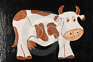 Puzzle Cow Stock Photo - Image: 8457380