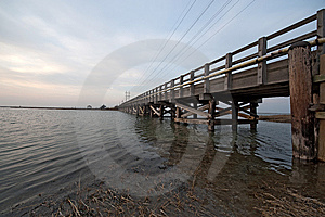 Wooden Bridge Royalty Free Stock Image - Image: 8457616