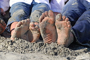 Sandy Toes Royalty Free Stock Photos - Image: 8457998