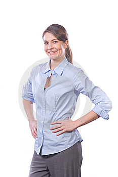 Business Woman Hands On Hips Stock Photos - Image: 8458373