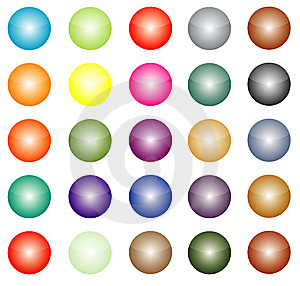 Colour Buttons Stock Image - Image: 8458571