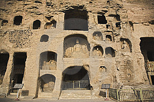Yungang Grottoes Stock Photo - Image: 8458950