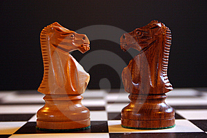 Chess Knights Stock Images - Image: 8459084