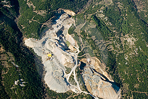 Stone Quarry, Aerial View. Stock Photo - Image: 8459210