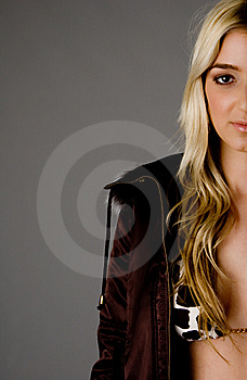 Half Length Of Sexy Young Female Royalty Free Stock Images - Image: 8459839