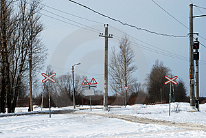 The Railway Under Snow Stock Images - Image: 8459974