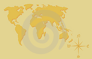 World Map. Royalty Free Stock Image - Image: 8459996