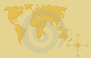 Weltkarte. Lizenzfreies Stockbild - Bild: 8459996