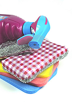Cleaning Essentials Stock Photos - Image: 8460673