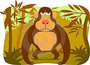 Cartoon Gorilla Royalty Free Stock Image - Image: 8460696