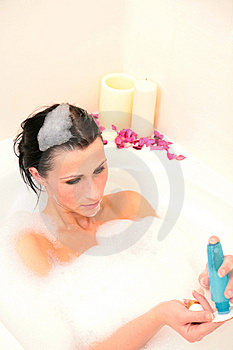 Cotton Puff Bath Stock Photos - Image: 8460933