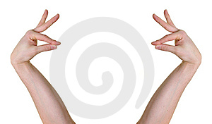 Hands In Oriental Gesture Stock Images - Image: 8461094
