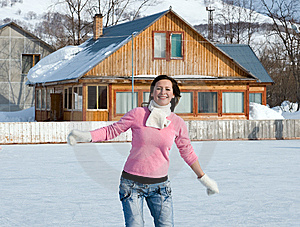 Woman With Ice Skates Royalty Free Stock Images - Image: 8461119
