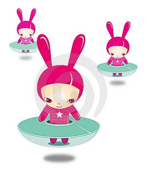 FAIRY BUNNY CHILDREN Stock Image - Image: 8461571