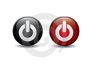 Red And Black Power Button Stock Image - Image: 8461661