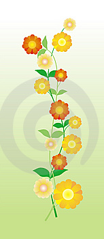 Illustration With Flowers Royalty Free Stock Photos - Image: 8461848