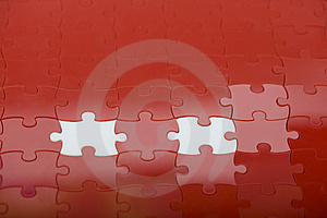 Red Puzzle Stock Images - Image: 8462074