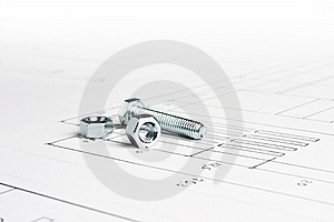 Bolt And Screw Nuts Royalty Free Stock Photos - Image: 8462538