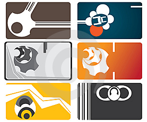Set Of Business Cards Stock Image - Image: 8464291