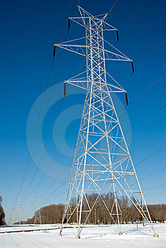 Power Line Tower Royalty Free Stock Image - Image: 8464976