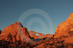 Sunset At The Skyline Arch Royalty Free Stock Image - Image: 8465636
