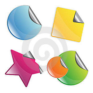 Set Of Peeling Stickers Royalty Free Stock Image - Image: 8466776