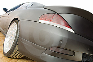 Rear End Of A Black Car Stock Photography - Image: 8467052