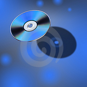 DVD Disk In 3D View Royalty Free Stock Image - Image: 8467176