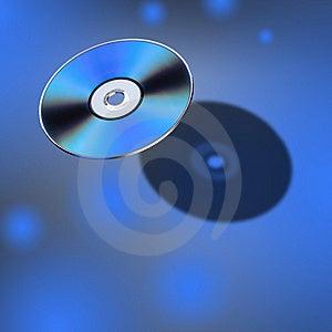 DVD-Schijf In 3D Mening Royalty-vrije Stock Afbeelding - Afbeelding: 8467176