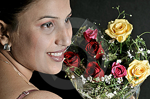 Girl With Flowers Royalty Free Stock Photos - Image: 8467228